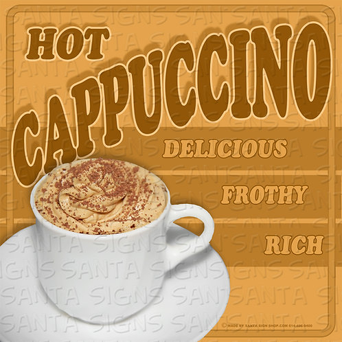 CAPPUCCINO sign 16x16