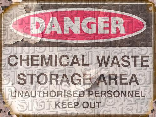 """CHEMICAL WASTE STORAGE AREA 12""""X9"""""""