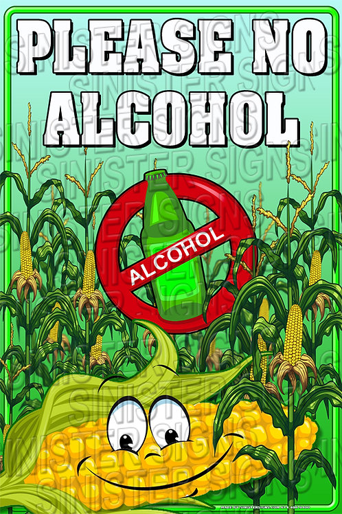 """No Alcohol 12""""x18"""""""