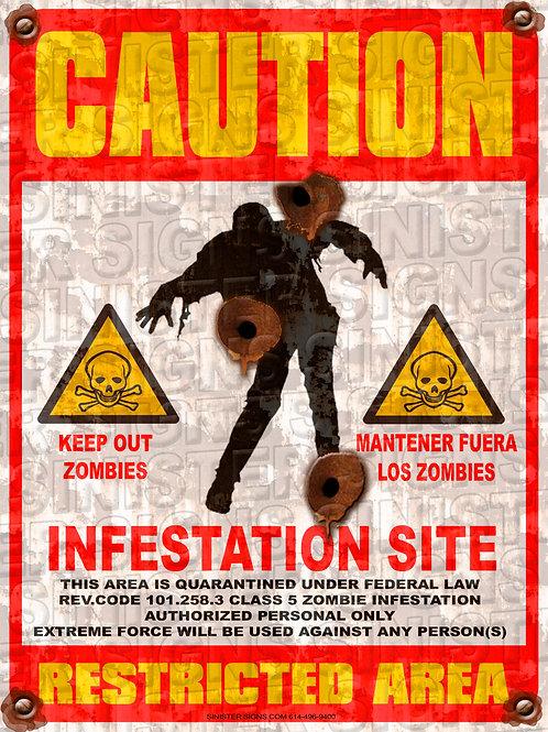 "INFESTATION SITE 12""X16"""