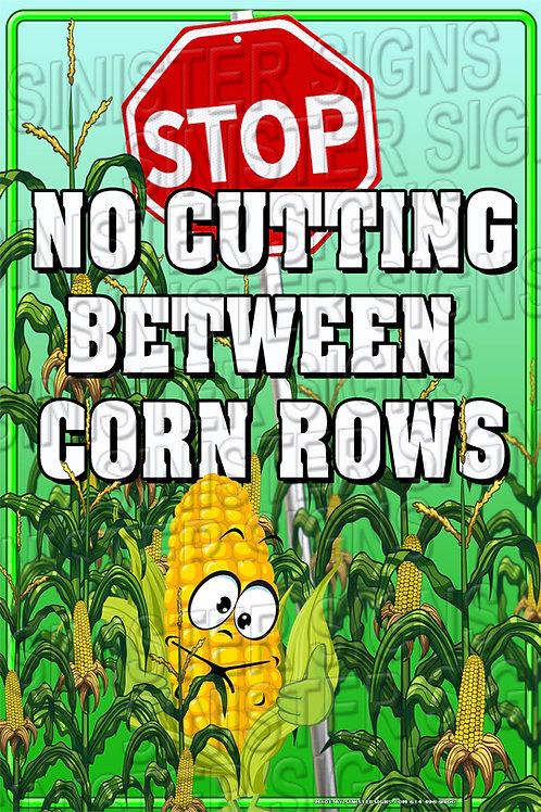 "No cutting rows 12""x18"""