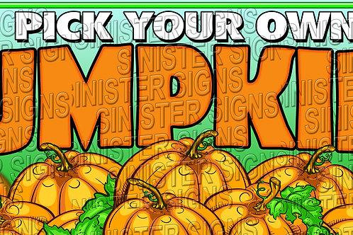 Pumpkin Patch Banner 8'x3'