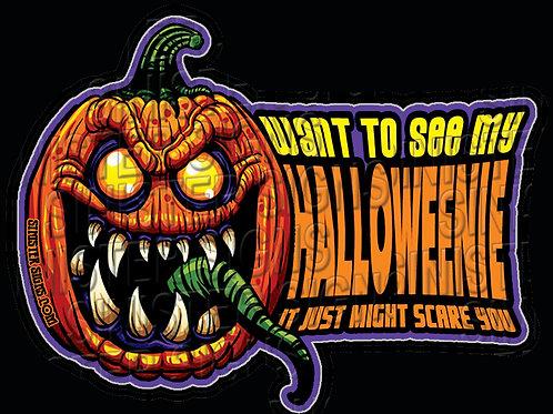 Halloweenie sticker