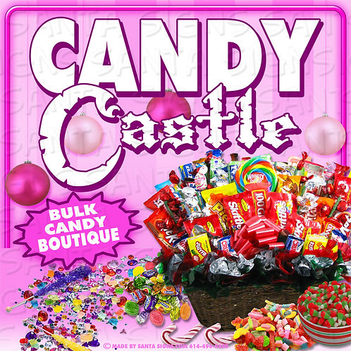 CANDY CASTLE sign 16x16