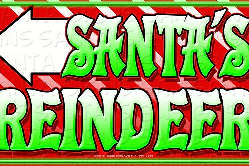 copy of copy of SANTA'S REINDEER LEFT 24'X14'