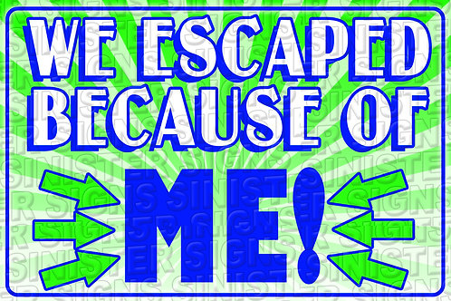 WE ESCAPED BECAUSE OF ME
