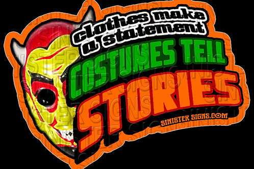 Costumes Tell a Story sticker