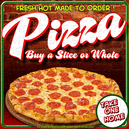 PIZZA sign 16x16