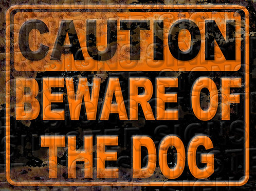 "BEWARE OF DOG 12""X9"""