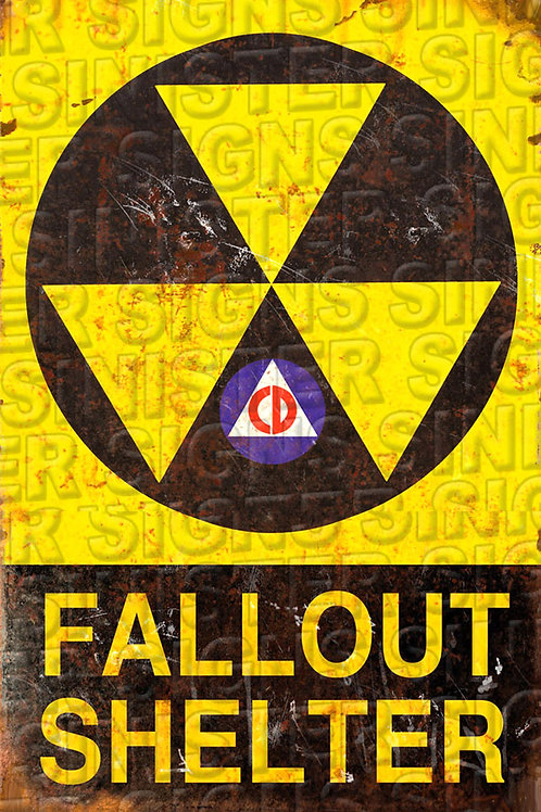 "FALLOUT SHELTER ""CD""12""X18"""