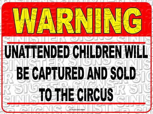 "UNATTENDED CHILDREN CIRCUS 12""X9"""