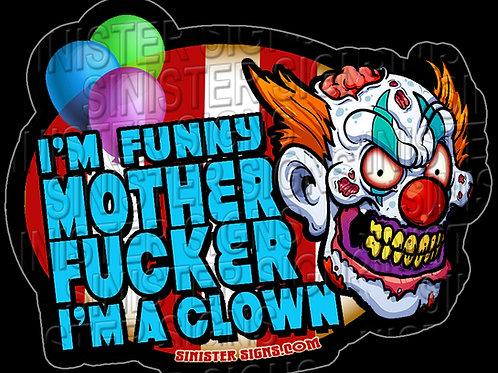 I'm a clown sticker