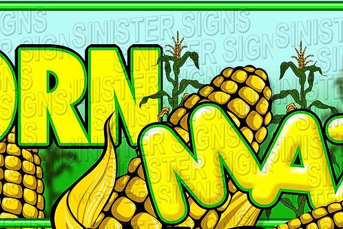 Corn Maze Banner 8'x3'