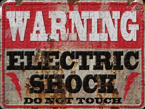 "WARNING ELECTRIC SHOCK 12""X16"""