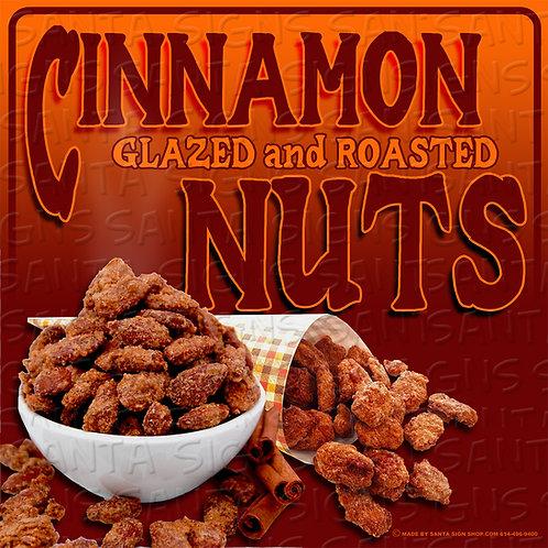 CINNAMON NUTS sign 16x16