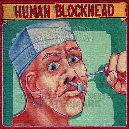 HUMAN BLOCKHEAD