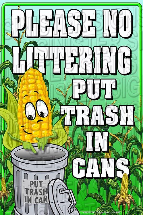 "No littering 12""x18"""