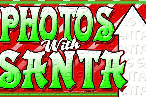 PHOTOS WITH SANTA STRAIGHT 24'X14'