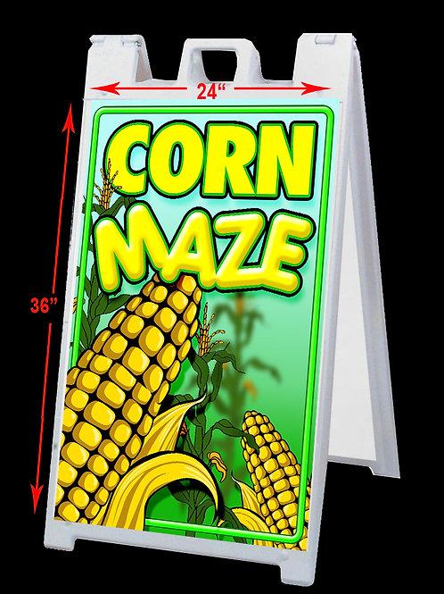 Corn Maze Double Sided A-Frame