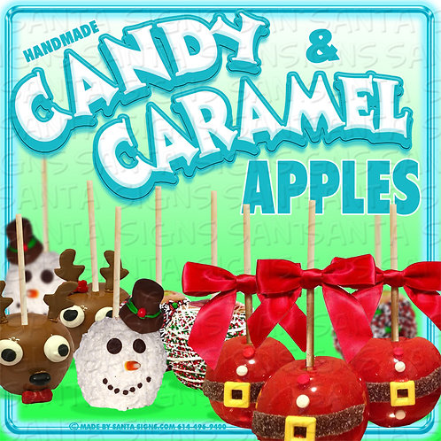 CANDY AND CARAMEL APPLES sign 16x16