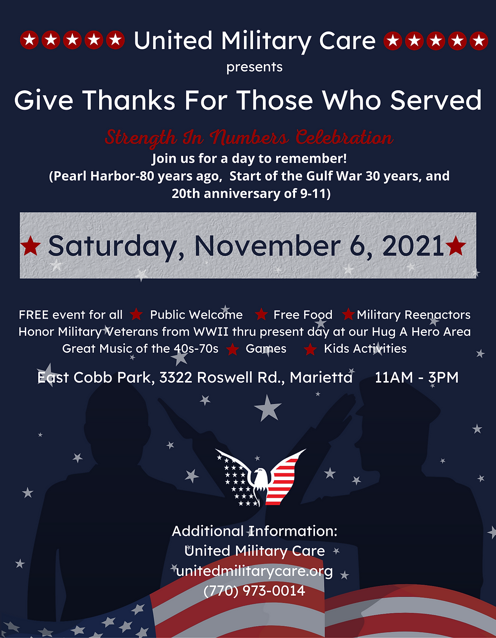 Give Thanks For Those Who Served