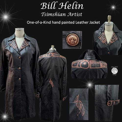 Artist Bill Helin Leather Coat