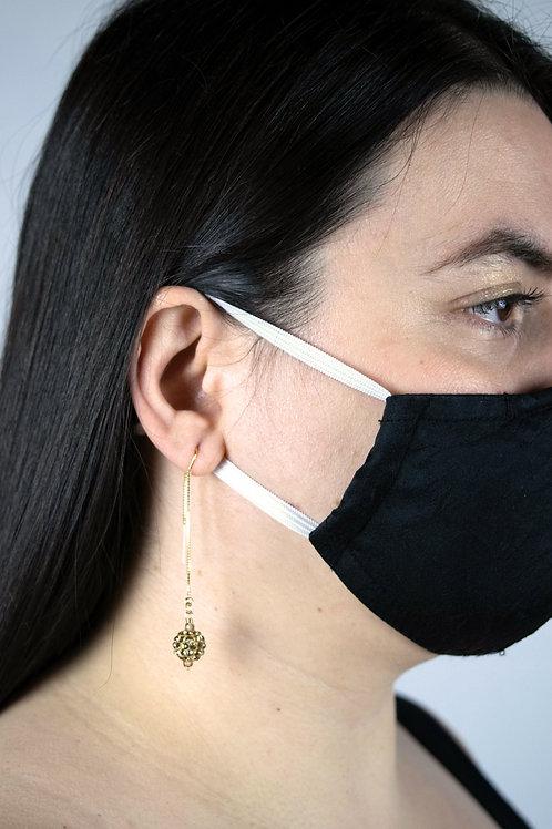 Cubic Zirconia Threader Earrings