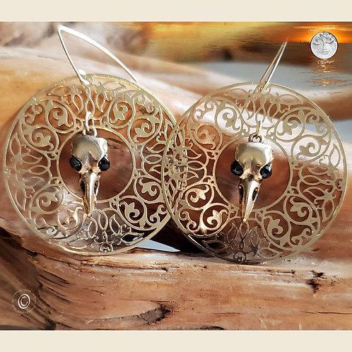 Raven & Sun   Tourmaline Earrings