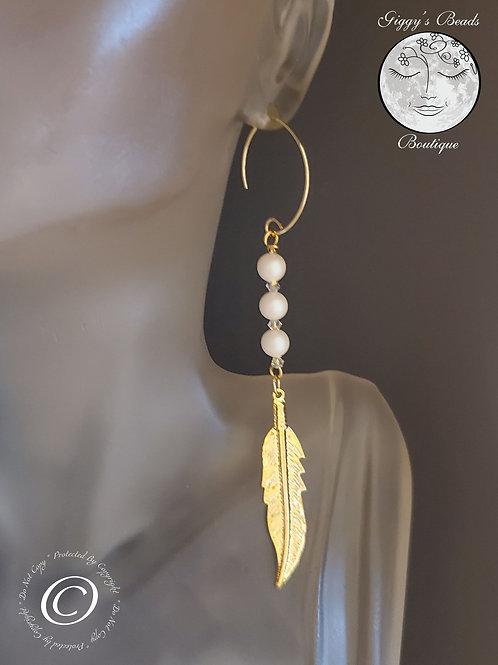 Swarovski Crystal with Swarovski Pearls Earrings