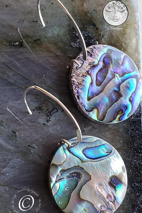 Silver & Abalone Earrings