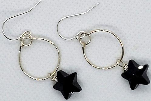 Sterling Silver & Swarovski star Earrings
