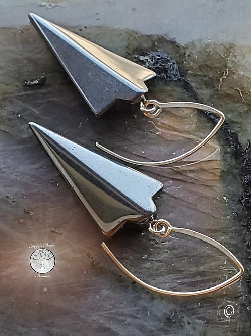 Hematite  on Silver Ear Wires