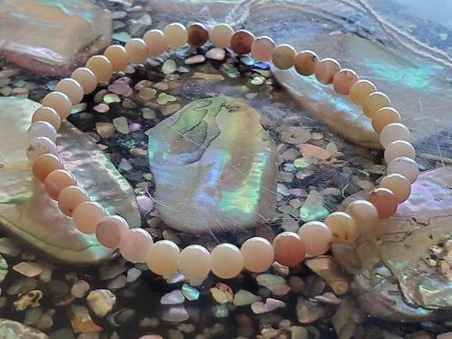 Pink Opals  Stretch Bracelet