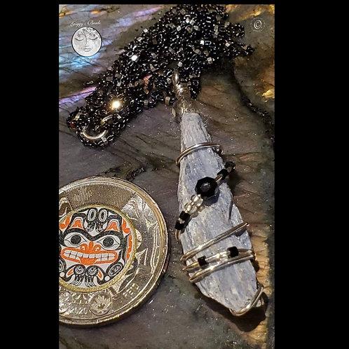 Kyanite  Crystal On Sterling Silver Chain