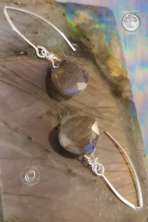 Labradorite on Silver Ear Wires