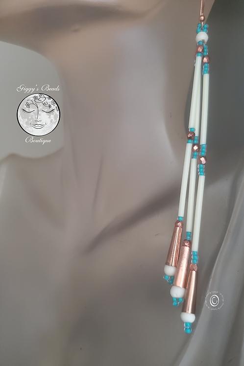 XL Copper Jingle & Bone  Earrings