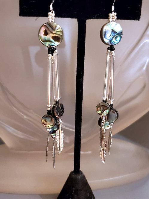 Splash of Colour Earrings - Silver Abalone