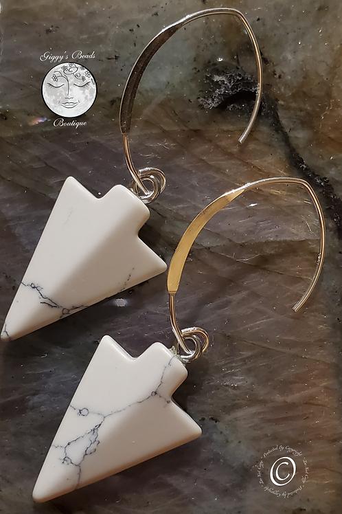 Howlite & Sterling Silver Earrings