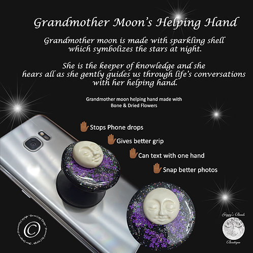 Grandmother Moon's Helping Hand - Purple Flowers