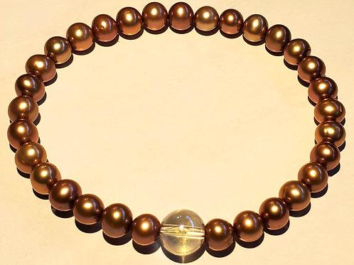 Pearls with Quartz Bracelet