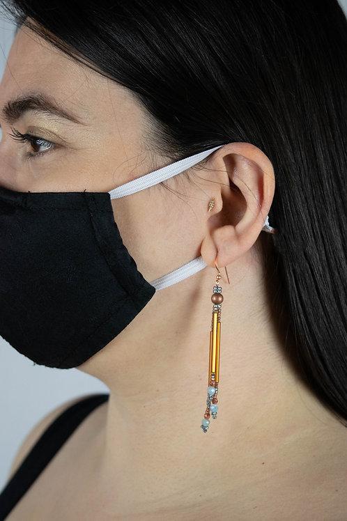 Splash of Colour Earrings - Copper