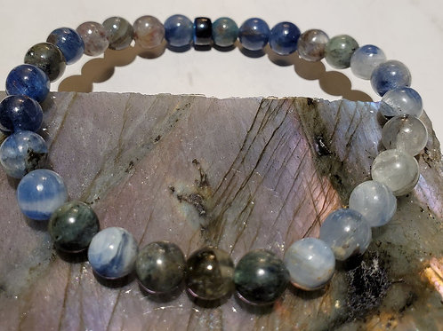 Kyanite with feature Pony Bead Bracelet