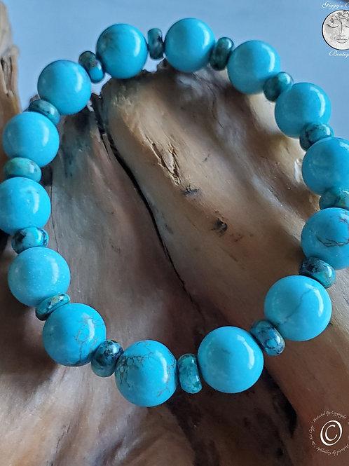 Turquoise on Turquoise beaded Bracelet
