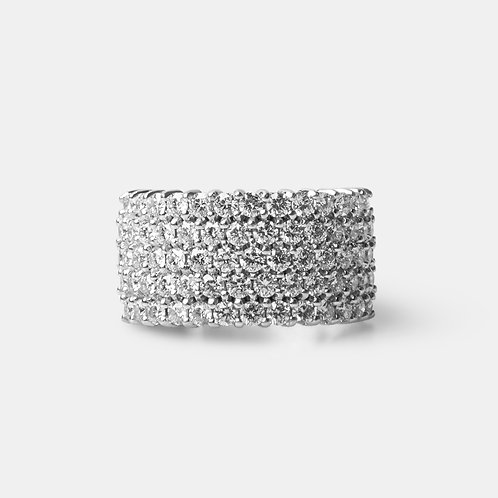 14K White Gold VVS Half Eternity Ring