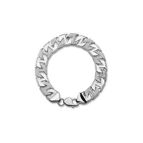 Silver Pattern Bracelet