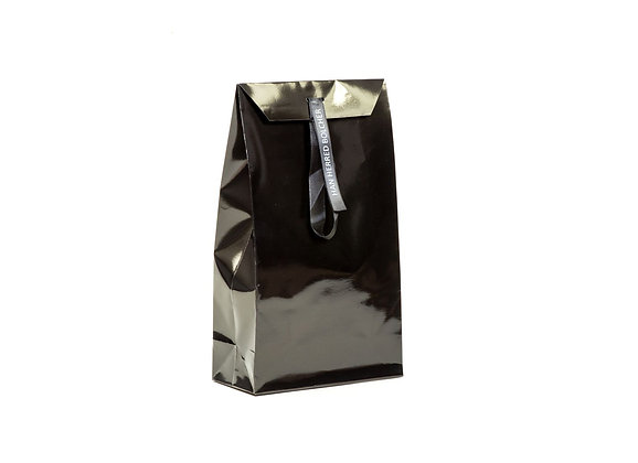 Pose lukket med silkebånd - 2x130g bolsjer