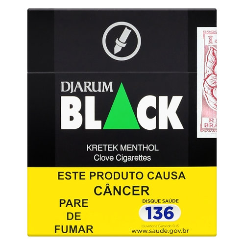 Cigarro Kretek Menthol Djarum Black