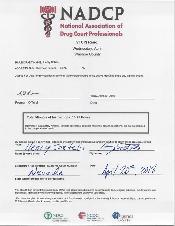 National Association of Drug Curt Professionals Training