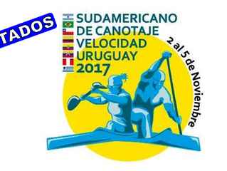 Resultados del Campeonato Sudamericano de Canotaje Uruguay 2017