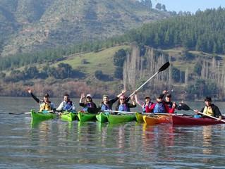 Kayakistas Santajuaninos celebraron sus 19 años bajando el Rio Biobio